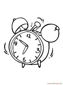 Clock coloring picture for free