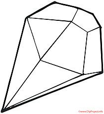 diamond color page png - Diamond Coloring Page