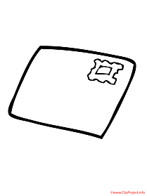 Envelope printable coloring page