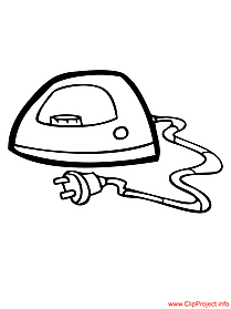 Objects Coloring Pages Iron Coloring Page