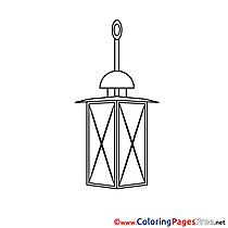 Lantern Colouring Page printable free