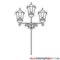 Lantern printable Coloring Pages for free