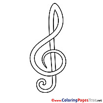 Treble Clef for Children free Coloring Pages