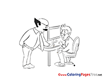 Chief for Kids Office printable Colouring Page