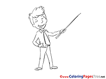 Conference for Children free Coloring Pages