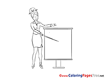 Conference Woman for Children free Coloring Pages