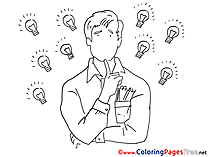 Creative Idea Coloring Pages Office for free