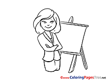 Designer Office Children Coloring Pages free