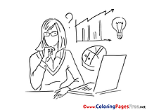 Financier Coloring Sheets download free