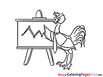 Ostrich Chart Office Coloring Pages for free