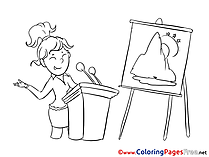 Presentation Colouring Page printable free