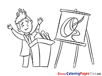 Presentation Office printable Coloring Sheets download