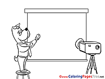 Projector Dog printable Office Coloring Sheets download