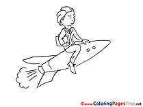 Rocket Man Office download printable Coloring Pages