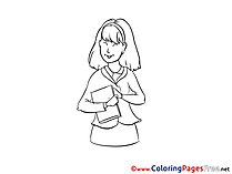 Secretary printable Coloring Sheets download