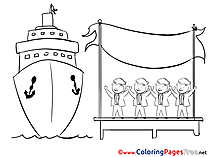 Ship Men Office Children download Colouring Page