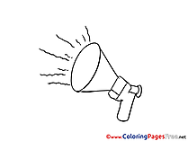 Speaker Kids Office free Coloring Page
