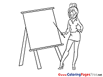 Woman in Office ree Coloring Page
