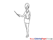 Woman Office free printable Coloring Sheets