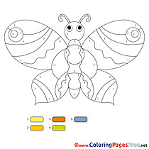 Butterfly Painting by Number Coloring Pages download