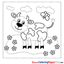 Cow Coloring Pages Painting by Number for free