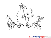 Hedgehog Coloring Sheets Painting by Number free