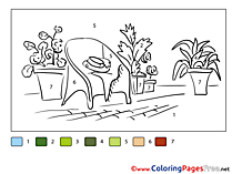 Houseplants Coloring Pages Painting by Number for free