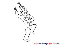 Amusement Man free printable Coloring Sheets