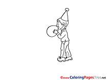 Balloon Boy Kids download Party Coloring Pages