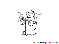 Cocktail free printable Coloring Sheets