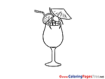 Cocktail Party printable Coloring Pages for free