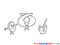 Cookie Tea Colouring Sheet Party download free