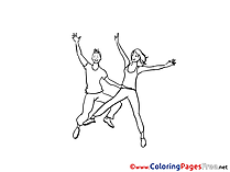Dancers Kids download Coloring Pages