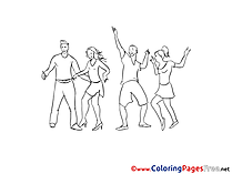 Disco printable Coloring Sheets download
