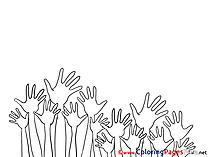 Hands Coloring Sheets Party download free