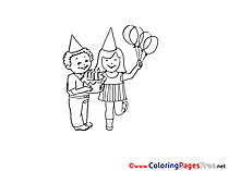 Kids Balloons download Coloring Pages