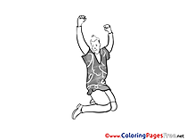 Man Dancing Colouring Page printable free