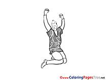 Man Dancing Colouring Page printable free