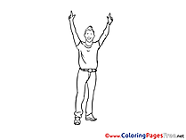 Man Party Children download Colouring Page