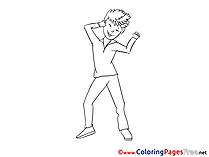 Man Party printable Coloring Sheets download