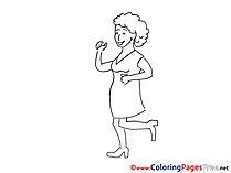 Woman Dancing Colouring Sheet download free