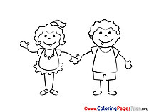 Best Friends for Children free Coloring Pages