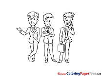 Businessmen free printable Coloring Sheets