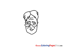 Download Professor Colouring Sheet free