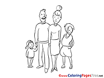 Family free Colouring Page download