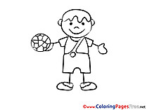 Football Player free Colouring Page download