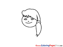 Free Image of Girl Coloring Page