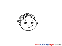 Free printable Girl Coloring Sheets