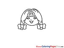 Funny Girl for Children free Coloring Pages