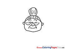 Grandma Children download Colouring Page